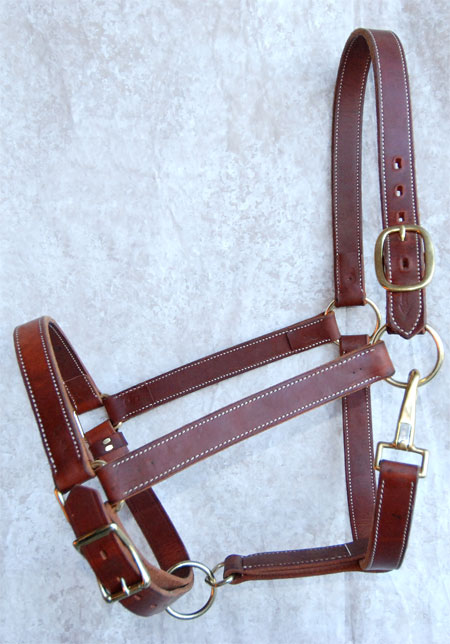 Leather Draft Horse Halter