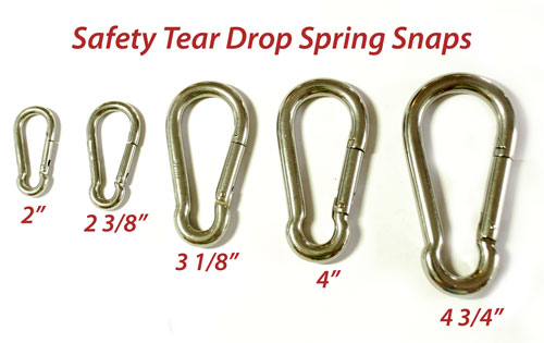 Safety Tear Drop Spring Snaps