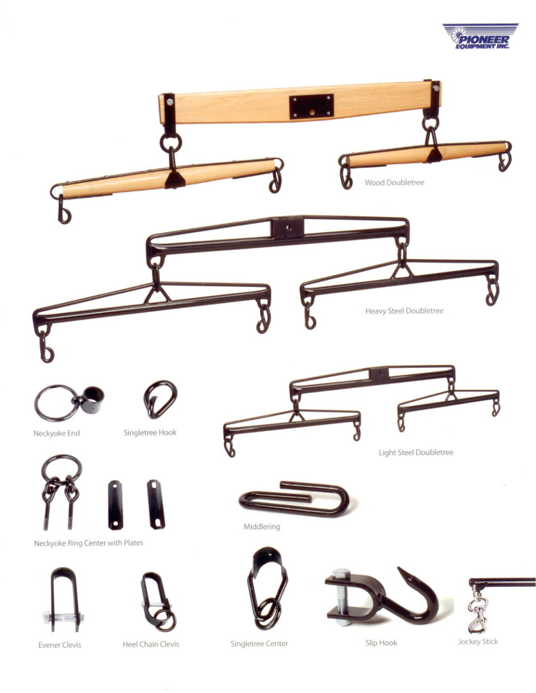 Hardware for Double tree, neck yoke and single trees.